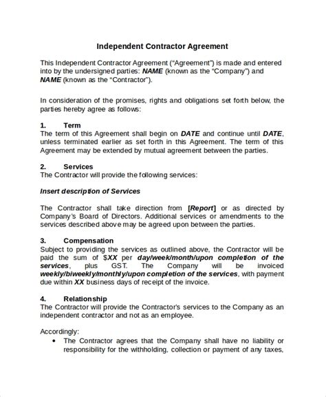 Contractor Confidentiality Agreement 10 Free Word Pdf Documents Download Free Premium Independent Contractor Employment Contract Template