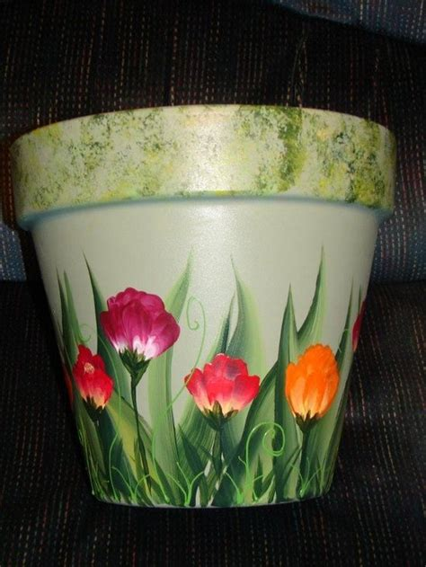 paint projects on pinterest painted flower pots one stroke painting one stroke painting clay pot