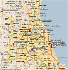 Map Of Chicago Suburbs map of chicago area map of the world