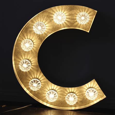 c lights large marquee style light up letter quot c quot vintage quot c