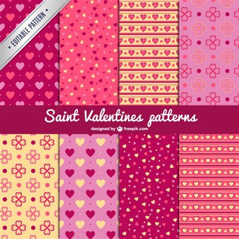 valentine pattern vector saint valentine s patterns vector free download