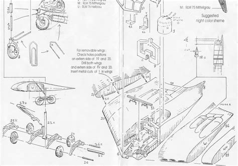 kit plans listed by manufacturer model model luft 46 models horton ho xviii