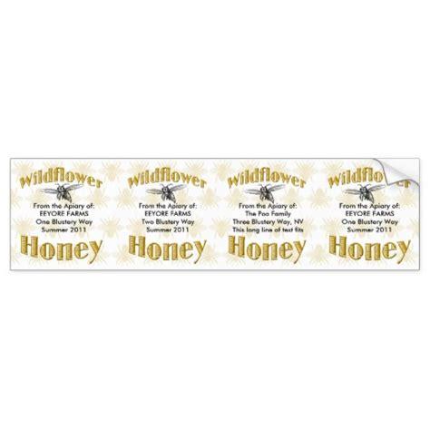 design your own honey label wildflower honey jar labels 4 in one sticker bumper