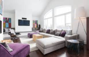 Accentuate with majesty purple passion for contemporary interiors
