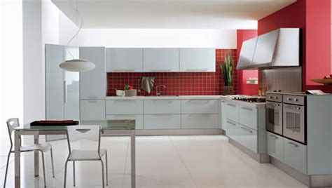 red and white kitchen designs red white modern kitchen design plushemisphere