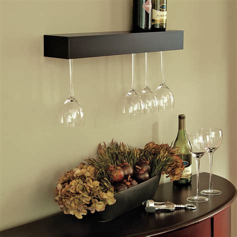 Wine Glass Wall Shelf by Cool Wall Mounted Wine Glass Holder Homesfeed