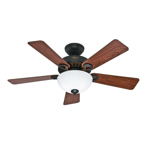 hunter ceiling fan downrod shop hunter ridgefield bowl 5 minute fan 44 in new bronze