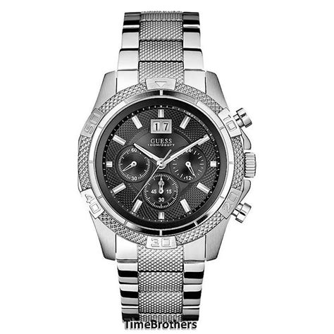 new guess for sporty chronograph silver tone