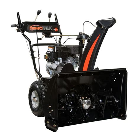 sno tek 28 in two stage electric start gas snow blower