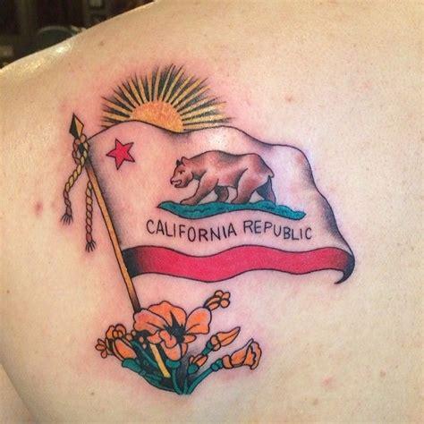 california flag tattoo california flag by flynn flynn rubano