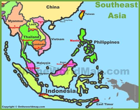 map of south east asia map of southeast asia southeastern asia