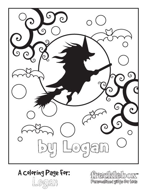 Halloween Fun Free Personalized Halloween Coloring Pages Frecklebox Free Coloring Pages