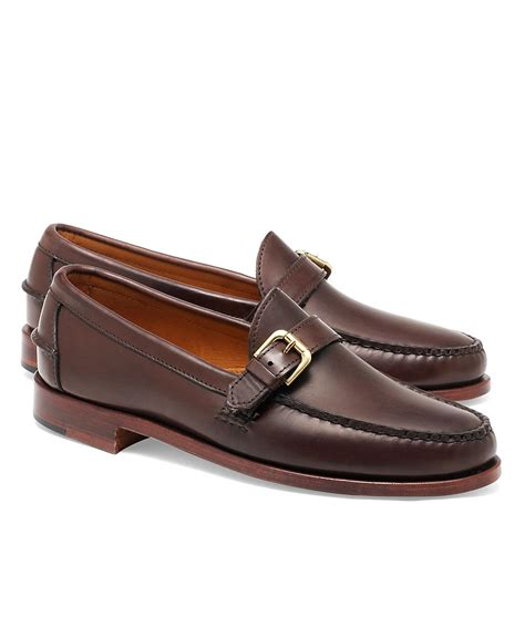 mens loafers with buckle brothers rancourt co calfskin buckle loafers in