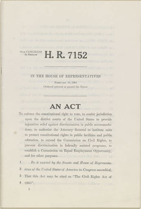 Ohio Records Act The Civil Rights Act Of 1964 The Civil Rights Act Of 1964 A Struggle For