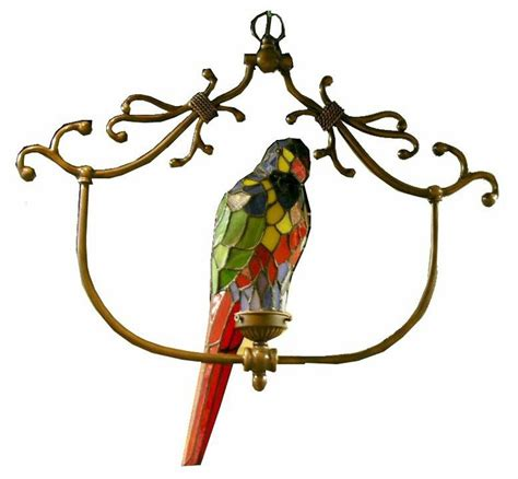 tiffany style parrot accent l warehouse of tiffany tiffany style hanging bird l