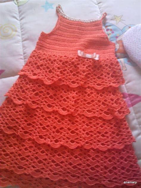 vestido nia crochet ganchillo y tricot anamary tutorial vestido con