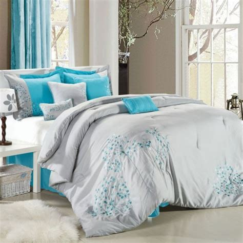 baby blue comforter set gray and blue bedding sets home furniture design