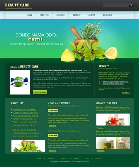 homepage template web templates free resume exles cv templates