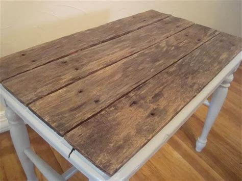 Diy Reclaimed Pallet Top Table 101 Pallets Pallet Wood Table Top
