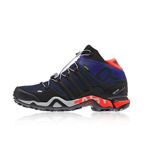 adidas terrex fast r mid mens black blue tex walking sports shoes trainers ebay