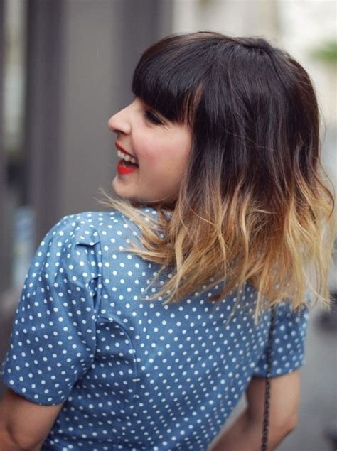 brunette hair with fringe ombre style 30 ombre hair color ideas