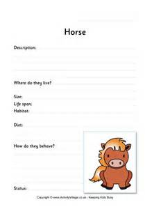 Horse worksheet black and white