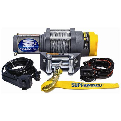 superwinch terra 25 12 volt electric atv winch 202528