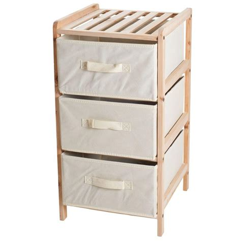 Shelf With Fabric Drawers lavish home 3 drawer organization wood fabric unit with shelf top 83 12 3 the home depot