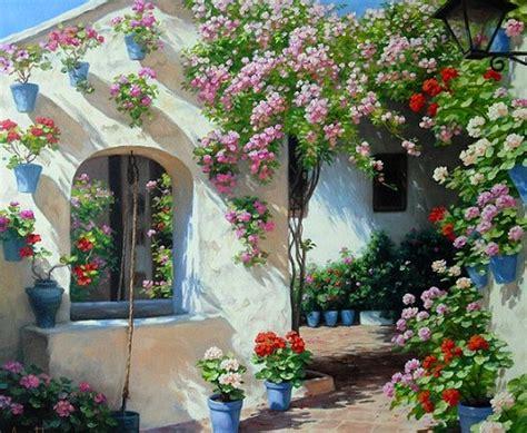 imagenes de paisajes florales cuadros pinturas oleos pinturas paisajes con flores