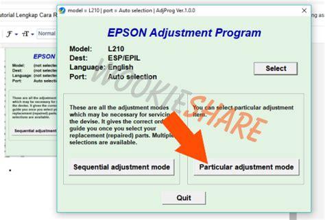 cara reset printer epson l210 manual tutorial lengkap cara reset printer epson l210 dengan cara