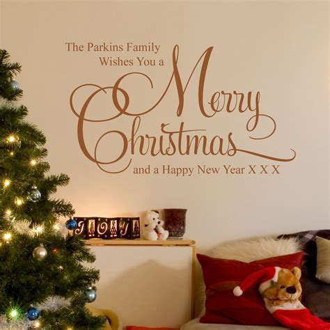 Xmas Wall Stickers personalised merry christmas wall sticker parkins interiors