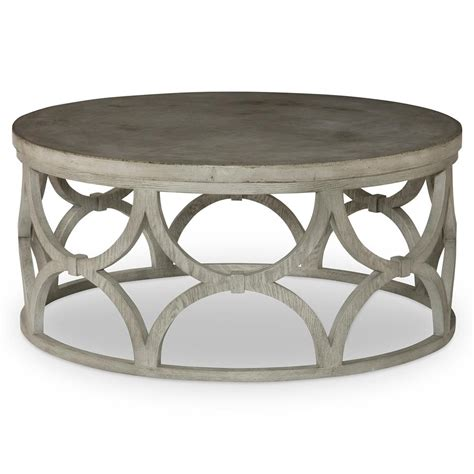 Mara Modern Slate Oak Round Outdoor Coffee Table   Kathy
