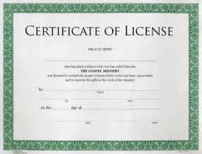 license certificate template certificate of license to preach rb regular baptist