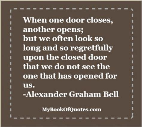 One Door Closes Quotes by 1000 Graham Bell Quotes On