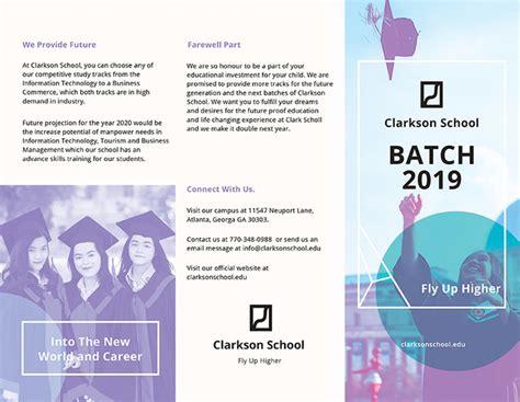 Graduation Brochure Templates by 17 School Brochure Psd Templates Designs Free