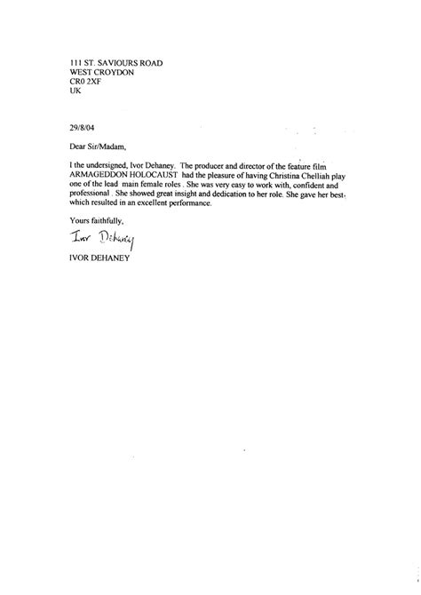 college letter of recommendation format sample book copy resume for