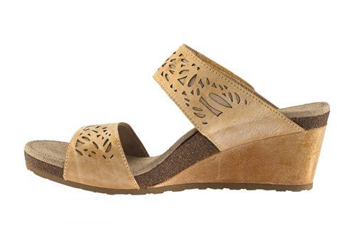 Wedges Sandal Laser danika laser cut slide wedge sandal latte womens comfort sandal aetrex worldwide orthotic