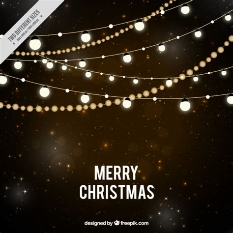 merry in lights starry background with lights vector