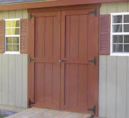 build your own set of replacement wooden shed doors using