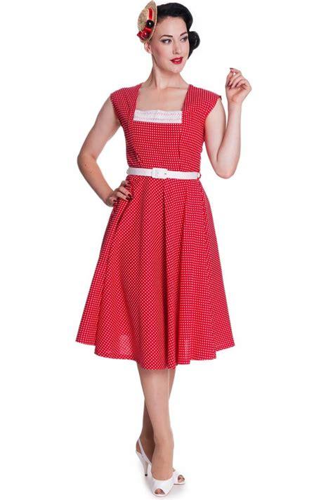 Marke Swing Kleider by Hellbunny Judy 50er Jahre Retro Polka Dots Swing Kleid