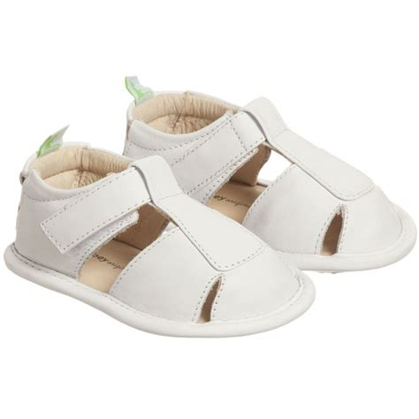 baby sandals tip toey joey baby white leather sandals childrensalon