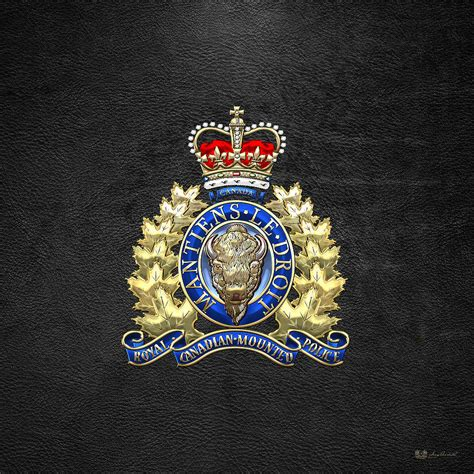 Canada Home Decor by Royal Canadian Mounted Police Rcmp Badge On Black
