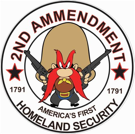 yosemite sam second amendment decal