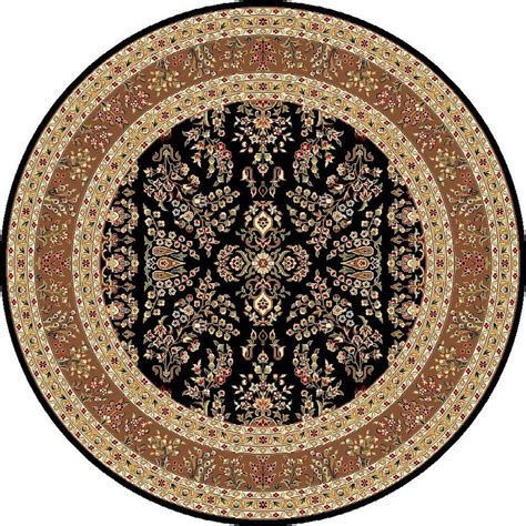 Safavieh Lyndhurst Black Tan 8 Ft X 8 Ft Round Area Rug 8 Ft Rug