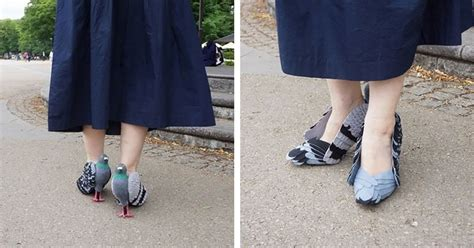 pigeon shoes diy project turns your heels into artistic birds