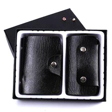 1 Paket Kunci L paket gantungan kunci dompet kartu kulit black