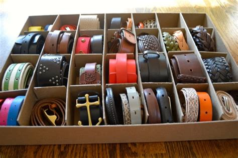 How To Organize Belts In A Closet by Organization Belts