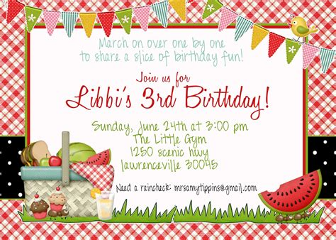 picnic invitation template picnic invitation templates