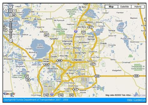 central florida orlando area map optimus 5 search image detailed map of central florida