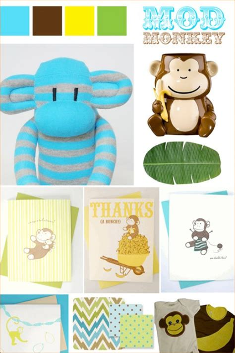 Mod Monkey Baby Shower by Monkey Baby Shower Ideas Aa Gifts Baskets Idea